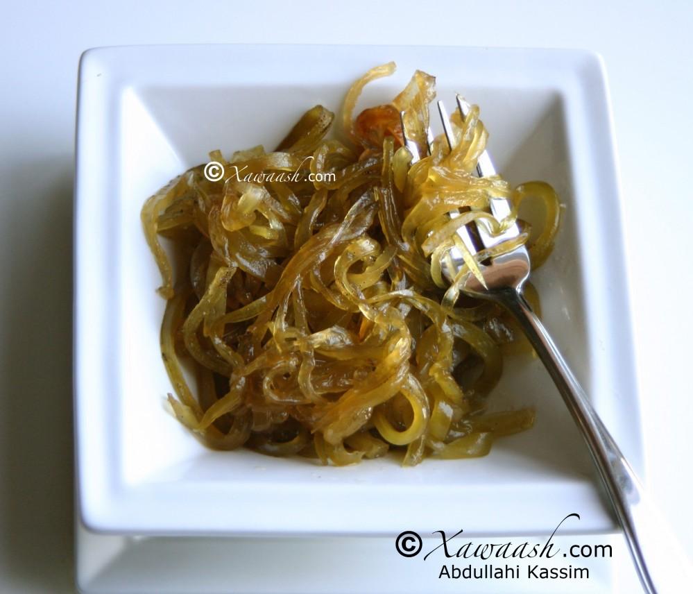 Bottle Gourd Spaghetti (Ntaambi ya Mabboori)