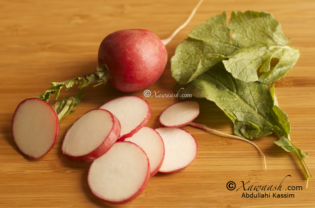 Sliced Radishes