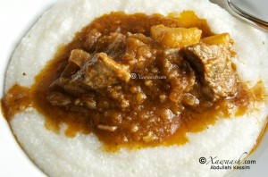 Grits with Beef Stew