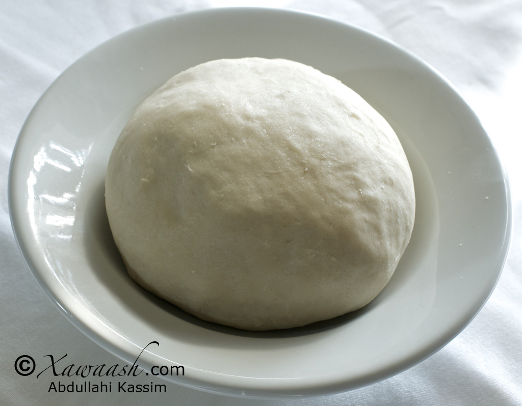 The dough after resting for 15 minutes