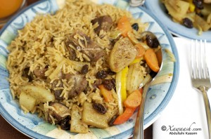 One-pot Rice & Goat Meat (Bariis Isku-karis)