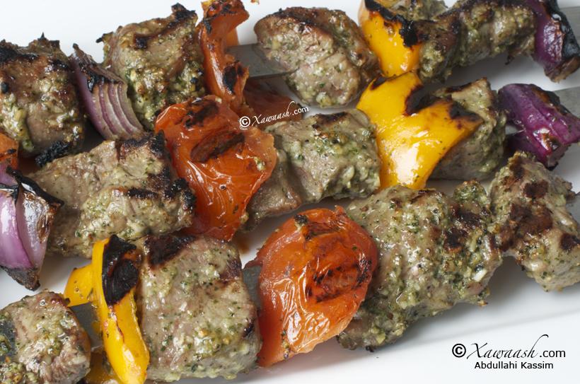 Beef Kebabs (Hilib La Solay) Brochettes de Boeuf فيليه البقر ...