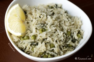 Cilantro Rice (Bariis Kabsaro Leh)