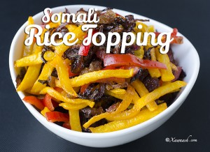 Somali Rice Topping - Featured Image