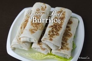 Spicy Beef Burritos - Featured Image