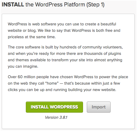 Step 2-4: Install WordPress